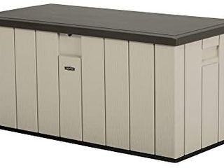 lifetime 60254 Heavy Duty Outdoor Storage Deck Box  150 Gallon  Desert Sand Brown