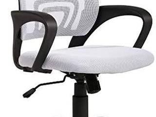 Ergonomic Office Chair Mesh Cheap Desk Chair Task Computer Chair lumbar Support Modern Executive Adjustable Rolling Swivel Chair for Back Pain  White