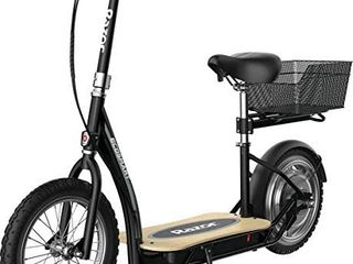 Razor EcoSmart Metro Electric Scooter a Padded Seat  Wide Bamboo Deck  16  Air Filled Tires  Rear Wheel Drive   Retail  579