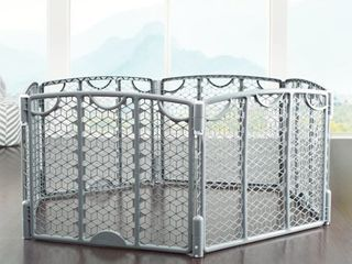 Evenflo Versatile Playspace Indoor Outdoor Gate  Cool Gray