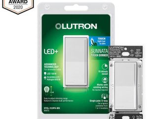 lutron Sunnata Touch Dimmer with lED  Advanced Technology for Superior Dimming of lED  Incandescent Halogen Bulbs  White