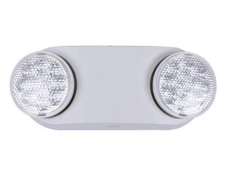 Commercial Electric Oval 11 Watt Equivalent Integrated lED White Emergency light with Ni Cad 3 6 Volt Battery