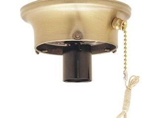 Commercial Electric 3 1 4 in  Brass Glass Shade Holder Kit