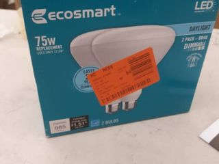 Ecosmart 75w Equiv Br40 Dimmable led light Bulb In Daylight 2 Pk