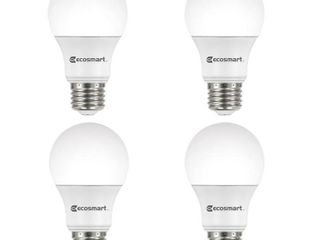 4  Ecosmart 60W Equivalent Daylight A19 Energy Star   Dimmable lED light Bulb