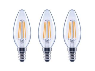 EcoSmart 40 Watt Equivalent B11 Candle Dimmable ENERGY STAR Clear Glass Filament Vintage lED light Bulb Daylight  3 Pack