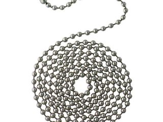 1 Commercial Electric 12 ft  Chrome Beaded Chain with Connector  Grey