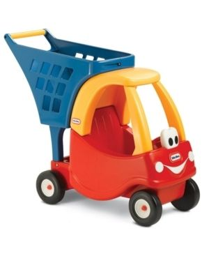 little Tikes Cozy Coupe Kids Pretend Play Fun Grocery Store Shopping Cart  Red
