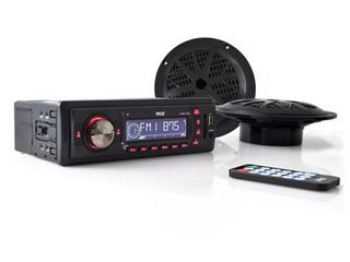 Pyle PlMRKT12BK In Dash Marine AM FM Pll Tuning Radio with USB SD MMC Reader