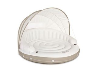 Intex Inflatable Canopy Island Float lounge  78 5  x 59