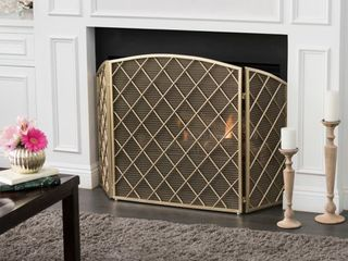 Amiyah 3 Panel Fireplace Screen by Christopher Knight Home  Retail 165 49