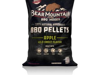 Bear Mountain BBQ Premium All Natural Hardwood Apple BBQ Smoker Pellets  20 lbs