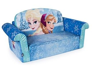MARSHMAllOW FURNITURE  CHIlDRENaS 2 IN 1 FlIP OPEN FOAM SOFA  DISNEY FROZEN  BY SPIN MASTER