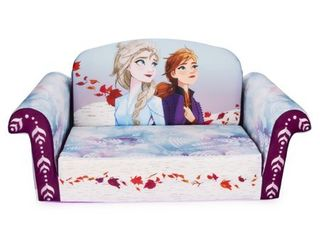 Marshmallow Furniture Frozen 2 Kids  2 in 1 Flip Open Foam Sofa