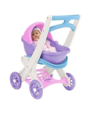 American Plastic Toys On the Go Play Stroller with Removable Carrier