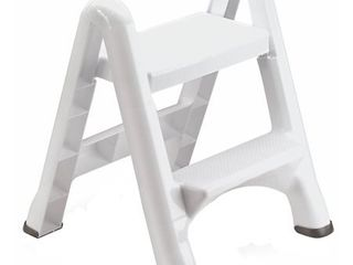 Rubbermaid EZ Step Folding Stool  2 Step  White