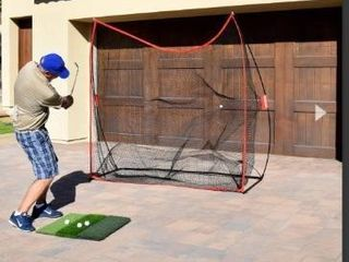 GoSports Golf Practice Hitting Net   Huge 7a x 7a Personal Driving Range Swing Practice