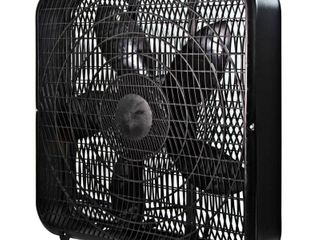 Comfort Zone 20 in  High Performance Box Fan with Carry Handle in Black