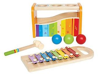 Hape   Pound   Tap Bench with Slide out Xylophone