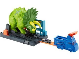 Hot Wheels City Smashin  Triceratops Vehicle