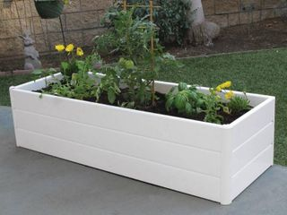 Nuvue 44 5 in  l x 16 5 in  W x 11 5 in  H White PVC Terrace Box Raised Garden Bed