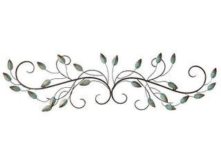 Stratton Home Decor Patina Scroll leaf Metal Wall DAccor