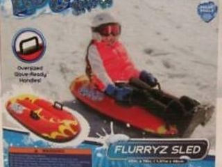 Bestway H2GO Snow Flurryz Sled Outdoor Inflatable Kids Snow Tube Sled  Red