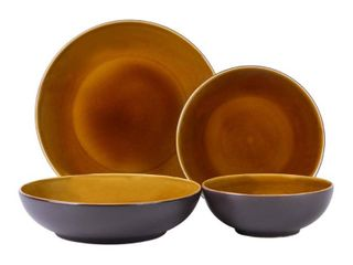 Sango Denyer Amber 16 Piece Dinnerware Set  Service for 4