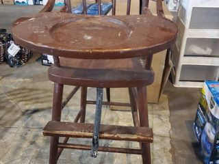 Beautiful antique highchair