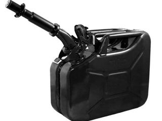 Wavian 3024 2 6 Gallon 9 8 liter Steel Gasoline Fuel Jerry Can with Spout  Black