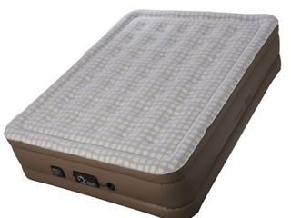 Insta Bed Raised Queen Air Mattress Bed with neverFlAT Pump  Plaid