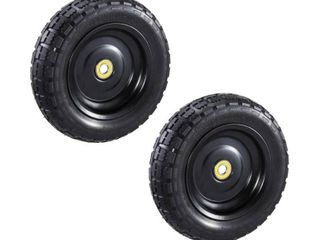 10 in  No Flat Replacement Tire for Gorilla Carts  2 Pack