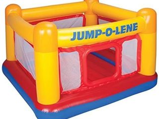 Intex Playhouse Jump O lene Inflatable Bouncer  68  X 68  X 44  for Ages 3 6