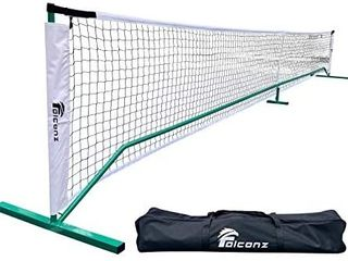 Regulation Size Pickleball Net for Outdoor and Indoor   Portable 22 Feet long Net with Steel Frame and PE Netting