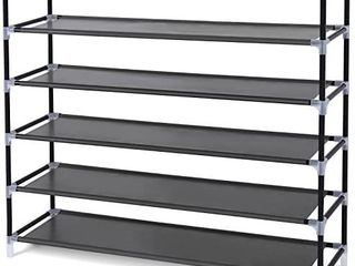 5 Tiers Shoe Rack Space Saving Shoe Tower Cabinet Storage Organizer Black 39 l Holds 20 25 Pair of Shoes
