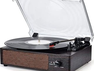 Record Player Turntable Wireless Portable lP Phonograph with Built in Stereo Speakers 3 Speed Belt Drive Turntable Vinyl Record Player with Speakers