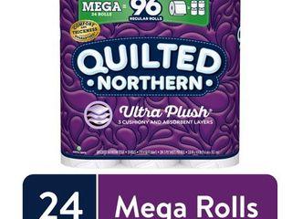 Quilted Northern Ultra Plush Toilet Paper  24 Mega Rolls   96 Regular Rolls