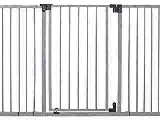Summer Secure Space Extra Wide Safety Baby Gate  Grey  Slate Metal Frame a 30a Tall  Fits Openings 28 5a to 52a Wide  Baby and Pet Gate for Extra Wide Doorways  Stairs  and Wide Spaces