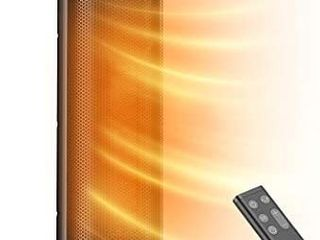 TaoTronics PTC Space Heater  1500W Fast Heating Ceramic   24a High Tower Heater  Oscillating Portable   Quiet with Remote ECO Mode 12H Timer Tip Over Switch Overheating Protection lED Display  large