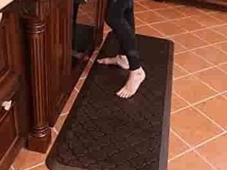 Butterfly long Kitchen Anti Fatigue Mat Comfort Floor Mats   Perfect for kitchen and Standing Desks  Highest Quality Material  Waterproof Kitchen Floor Mat  24 x 70 inches  Dark Antique