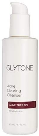 Glytone Acne Clearing Cleanser with 2  Salicylic Acid for Blemish Prone Skin  Fragrance Free  Oil Free  6 7 oz