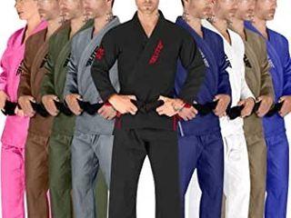 Elite Sports BJJ GI for Men IBJJF Kimono BJJ Jiujitsu GIS W Preshrunk Fabric   Free Belt  See Special Sizing Guide