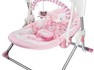 Soothing Portable Swingi1 4Comfort Electric Baby Rocking Chair with Remotei1 4 Intelligent Music Vibration Box That Can Be Used from The Beginning of The Newborn  Pink