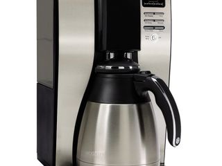 Mr  Coffee   10 Cup Coffee Maker with Thermal Carafe   Stainless Steel Black