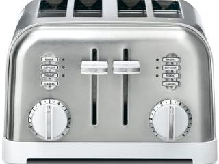 Cuisinart CPT 180WP1 Metal Classic 4 Slice toaster  White