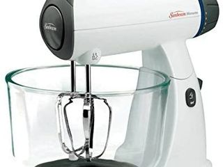 Sunbeam Mixmaster 12 Speed Stand Mixer  2 Qt  and 4 Qt  Glass Bowls Included  White