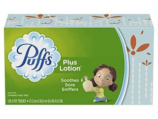 Puffs Plus lotion Facial Tissues  8 Family Boxes  120 Tissues per Box 960 Total