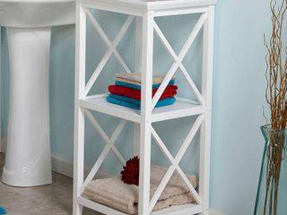 Etagere  RiverRidge X Frame Collection 3 Shelf Storage Tower   White