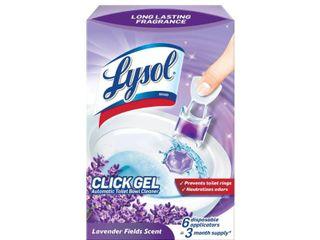 lysol Click Gel Automatic Toilet Bowl Cleaner  lavender Scent  6ct