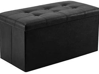 YOUDENOVA 30 inches Folding Storage Ottoman  80l Storage Bench for Bedroom and Hallway